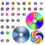 CD. A small collection of colorful CD drives for various necessities Stock Photos