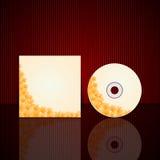 传染媒介CD的盖子设计模板 免版税库存图片
