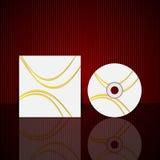 传染媒介CD的盖子设计模板 库存图片