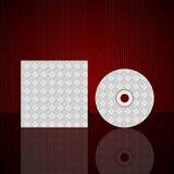 传染媒介CD的盖子设计模板 免版税图库摄影