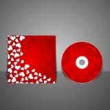 传染媒介CD的盖子设计模板。 库存照片