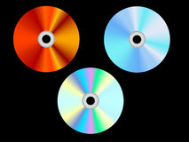 Cd. 3 Cd dvd compact disk burning software vector Royalty Free Stock Photos