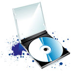 CD. And a blot on a white background Royalty Free Stock Photo