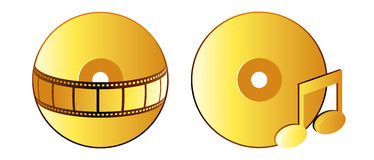 Cd. Vector illustrator of video and audio disks Stock Photography