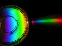 CD. Rainbow CD Stock Photography