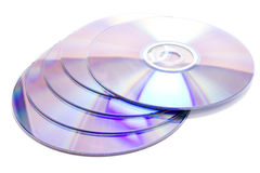 CD. Few CD DVD over white isolated Stock Photography