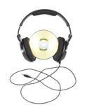 CD的耳机 免版税库存照片