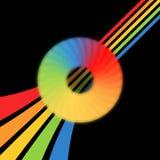 CD - Abdeckung auf schwarzem Hintergrund Stockfotografie