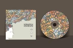CD Abdeckung-Auslegung-Schablone Lizenzfreie Stockfotos