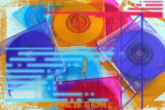 CD abstract. Colorful CD's stock photography