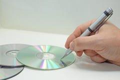 CD abstracte samenstelling stock foto