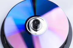 CD aislado en el fondo blanco Imágenes de archivo libres de regalías