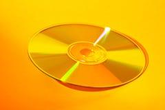 CD amarillo Foto de archivo libre de regalías