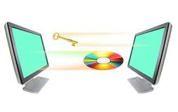 CD &Key het weggaan Stock Foto's