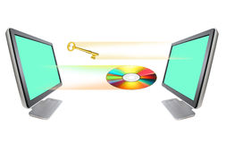 CD &Key Verlassen stock abbildung