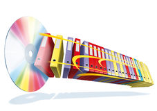 Cd archive. 3d rendering cd and archive Stock Image