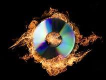 CD ardente Fotografia de Stock Royalty Free