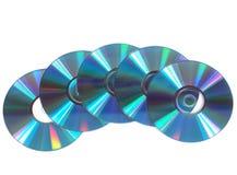 CD Argento-blu, dischi di DVD Immagine Stock Libera da Diritti