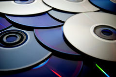 Cd, azul de DVD Fotos de archivo libres de regalías