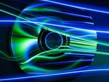CD azul y verde Fotos de archivo libres de regalías