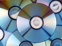 CD background. A colorful CD isolated on cd background Stock Photos