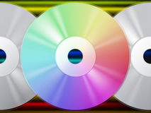 CD Background Means Music Artists And Rainbow Lines Royalty Free Stock Photography