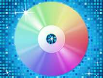 CD Background Means Music Party And Blue Squares Royalty Free Stock Photo