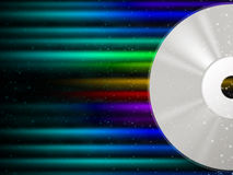 CD Background Means Rainbow Beams And Music Stock Photos