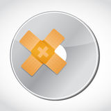 cd band aid fix solution concept Royalty Free Stock Images