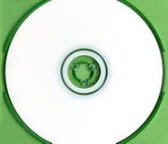 Cd bianco in cassa verde Fotografia Stock Libera da Diritti