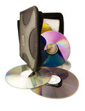 Cd bianco digitale del dvd della priorità bassa dei dischi del calcolatore Fotografia Stock