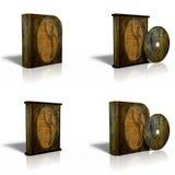 CD in bianco, DVD, modello della casella del disco Fotografie Stock