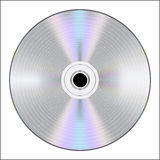 CD with binary code Royalty Free Stock Image