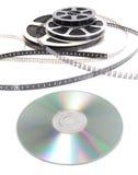 cd biofilmrulle royaltyfri foto