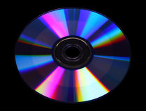 CD on a black background Royalty Free Stock Image