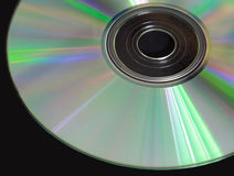 CD on black table Royalty Free Stock Photography