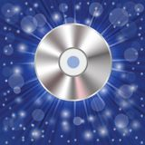 CD on a blue background Royalty Free Stock Images