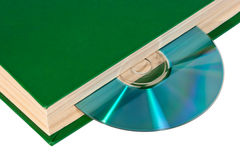 CD in the book Royalty Free Stock Image
