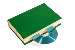 CD in the book Royalty Free Stock Photo