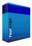 CD Box. Box for software(CD) Vector EPS Royalty Free Stock Image