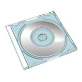 Cd in box. Artistic vector illustration stock illustration