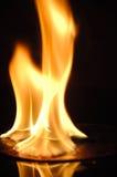 CD brûlant Photos libres de droits