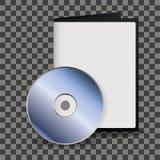 CD brilhante de prata da placa, DVD com zombaria do caso acima ilustração royalty free
