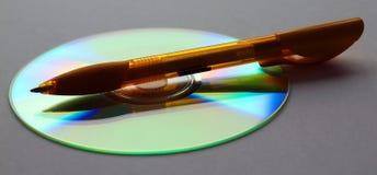 CD Burning Fotografie Stock