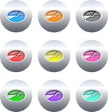 Cd buttons Royalty Free Stock Photography