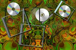 CD on carpet.  Cover for CD Royalty Free Stock Image
