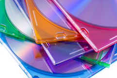 Cd Case. Cd-rom, circle, color stock image