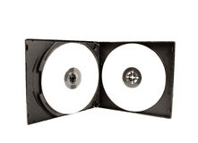 CD case. With white cds Royalty Free Stock Images