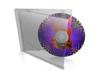 CD case with disk. Illustration of cd, dvd case with disk on white background Stock Photography