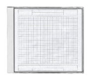Cd case with squared paper Stock Photos